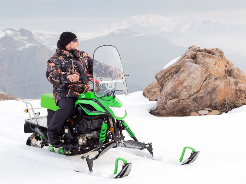 горный снегоход на рыбалку
