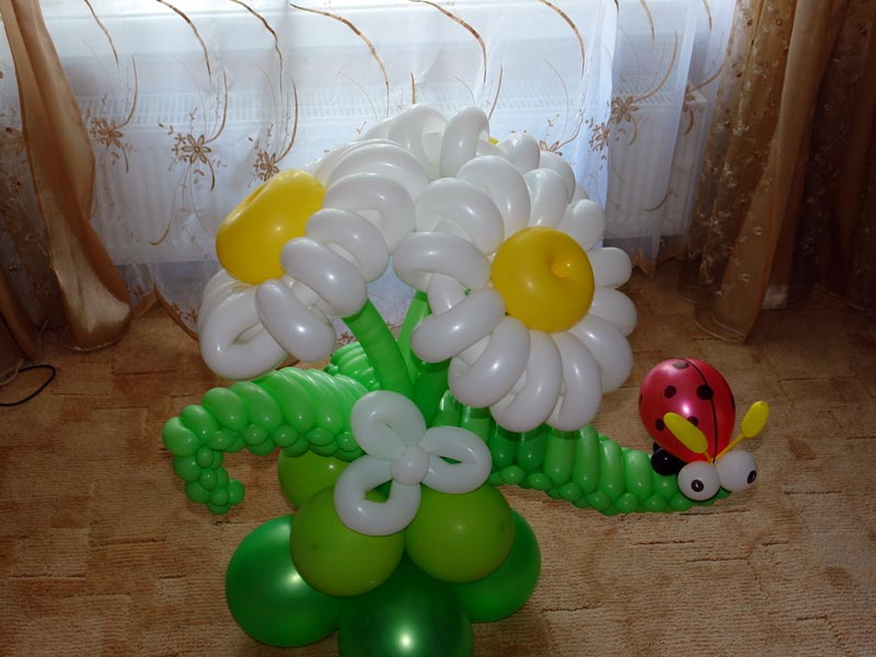Изделия из шаров своими руками фото